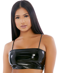 Slippery When Wet Vinyl Cami Top