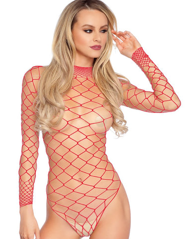 Long Sleeve Fishnet Bodysuit