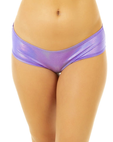 Holographic Purple Seamless Low Rise Booty Shorts