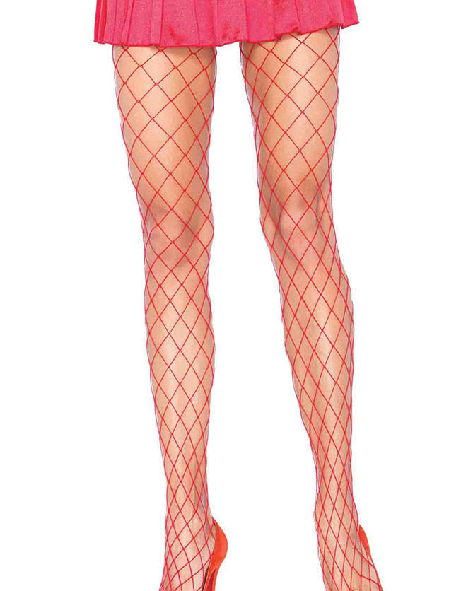Spandex Large Diamond Fishnet Pantyhose