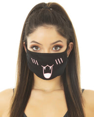 Phat Kat Black Cloth Face Mask