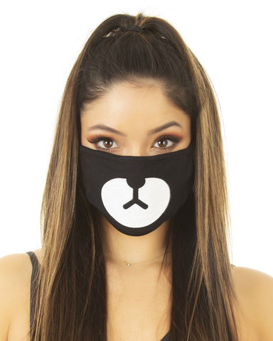 Rave Cub Black Cloth Face Mask