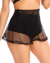 Black Fishnet Skater Skirt
