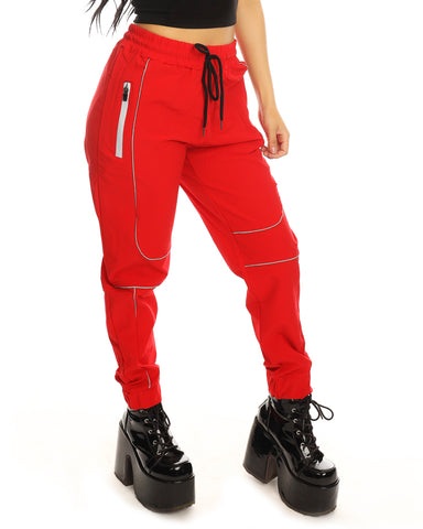 Red Reflective Unisex Joggers
