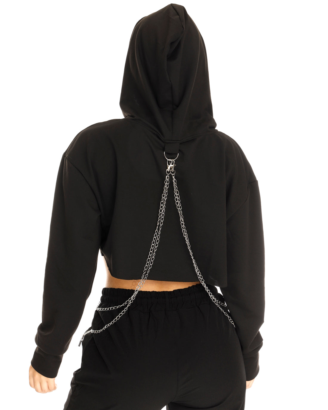 Chains to Tame Cropped Hoodie