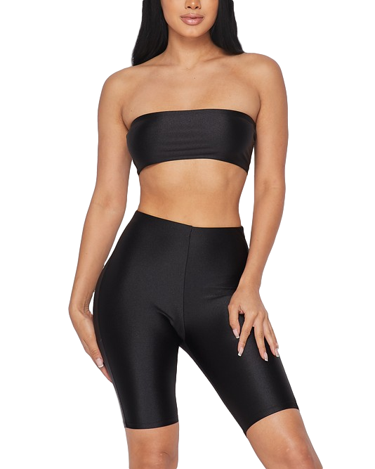 All Eyes On Me Spandex Biker Shorts Set