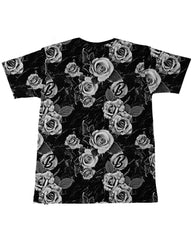 BW Floral Men's Tee -  rave wear, rave outfits, edc, booty shorts