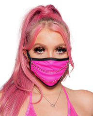 Neon Pink Chain Me Up Face Mask