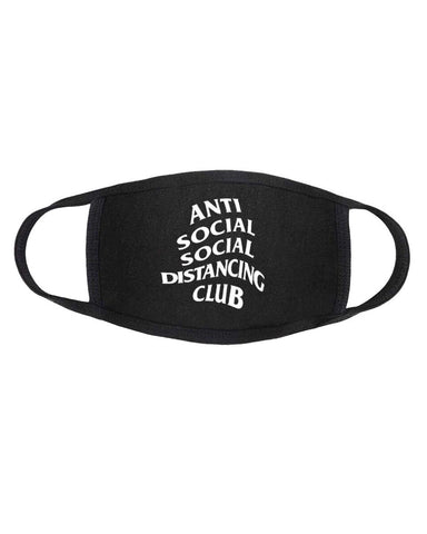 Anti Social Social Distancing Black Cotton Cloth Face Mask