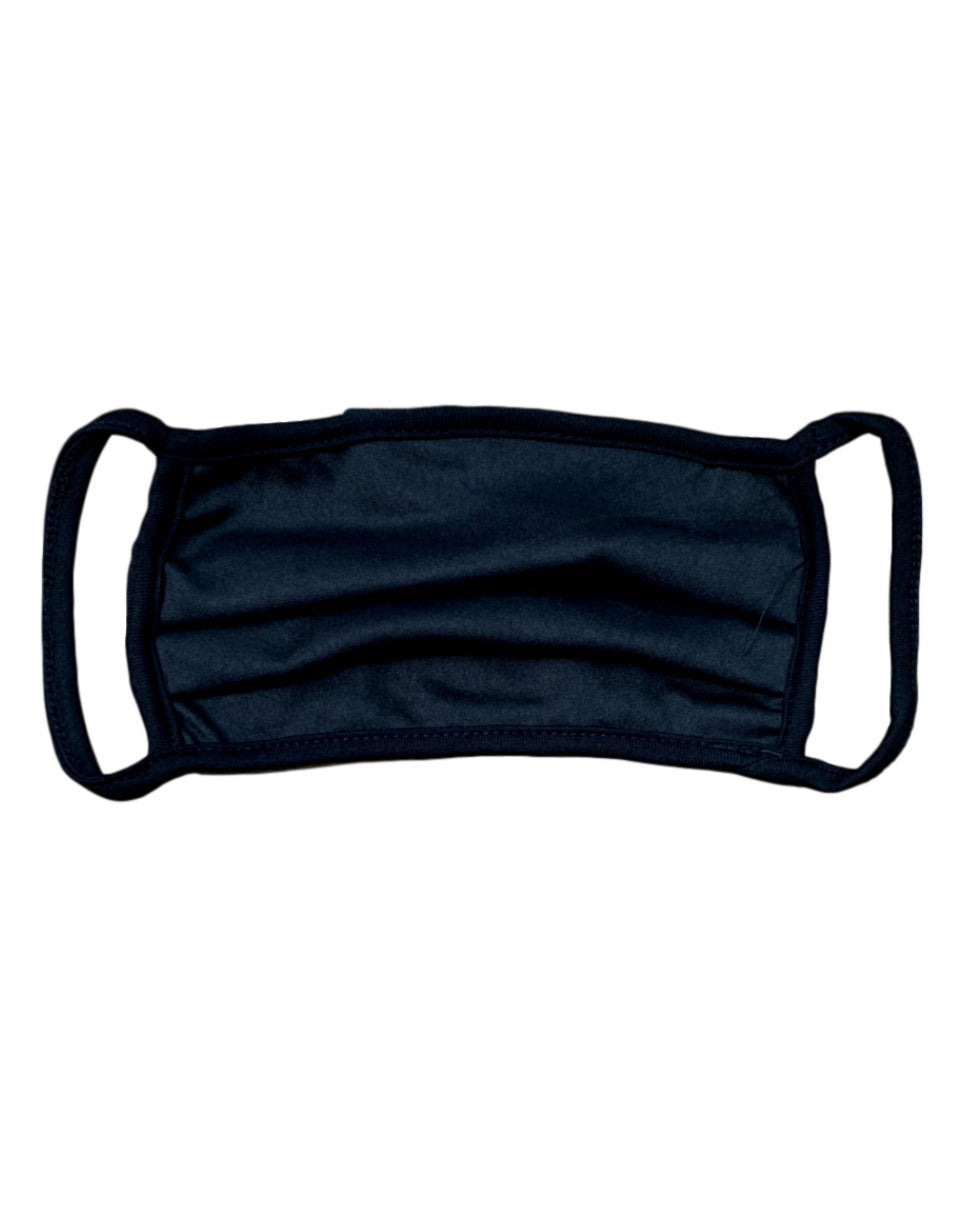 Black Cotton Cloth Face Mask w/ Nose Bracket (Adult and Kids Sizes)
