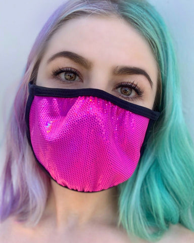 Fuchsia Fury Velvet Face Mask