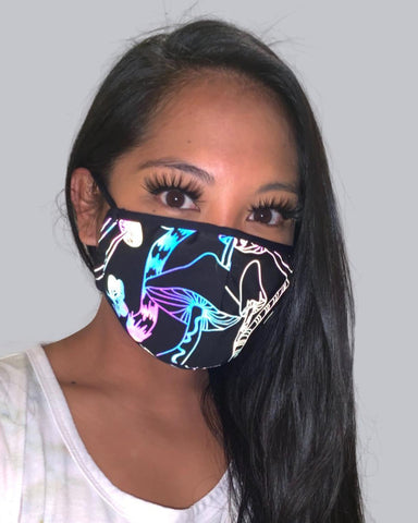 Reflective Shrooms Face Mask With Filter