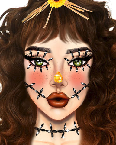 Stitches Adhesive Face Jewels Sticker