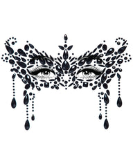 Diamond Masquerade Adhesive Face Jewels Sticker - Black