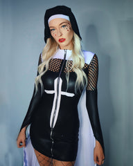 2pc Pray For Me Nun Costume