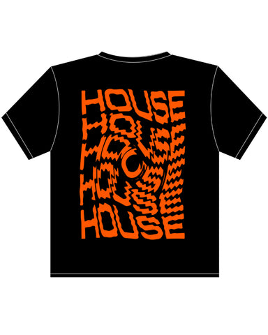 Neon Orange House Swirl T