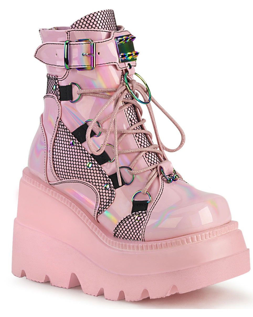 Demonia Shaker Baby Pink Hologram Wedge