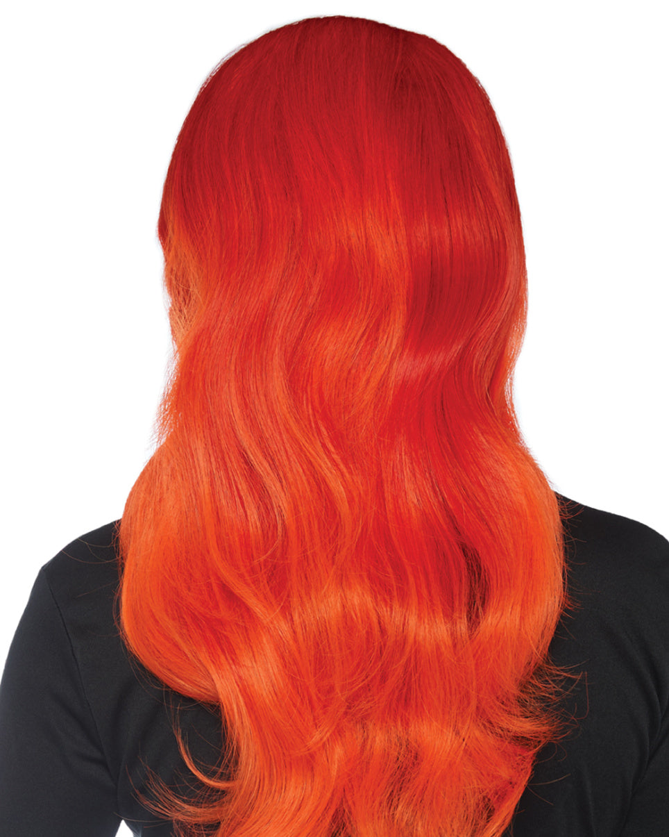 Ombre Fiery Red Long Wavy Wig