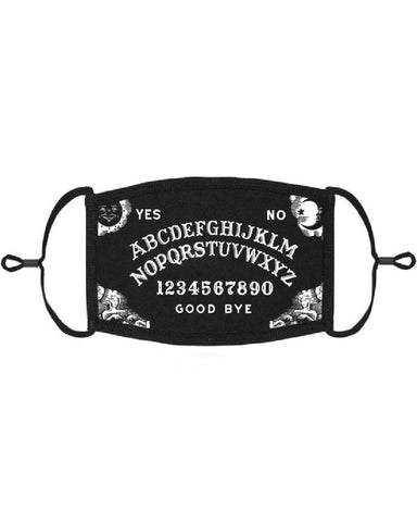 Ouija Board Black Adjustable Face Mask