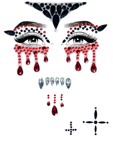 Vampire Blood Adhesive Face Jewels Sticker