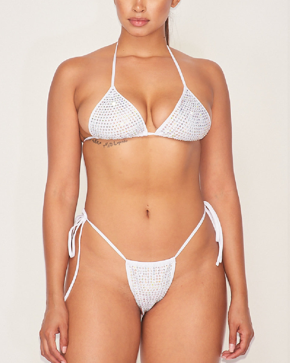 2pc All That Bling Rhinestone Bikini Set