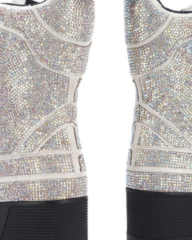 Covered In Diamonds Rhinestone Combat Boots