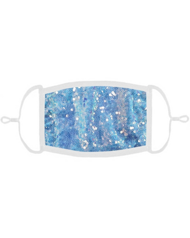 Sky Blue Sequin Mask with Filter