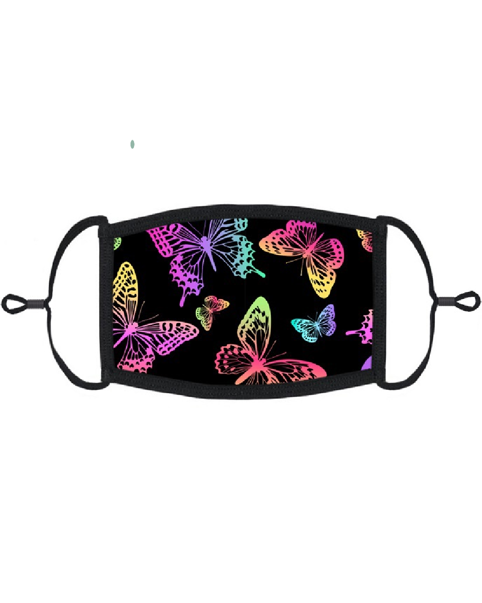 Rainbow Butterfly Face Mask with Filter