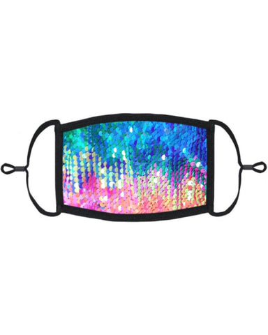 Rainbow Flip Sequin Mask with Filter