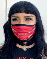 Red Chain Me Up Face Mask