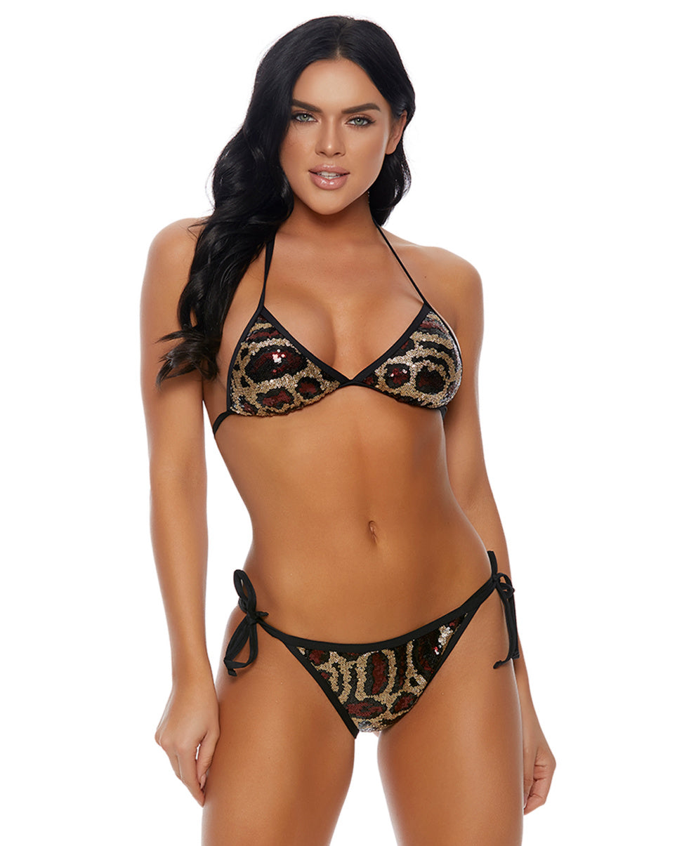 Desert Kitty 2pc Embellished Bikini
