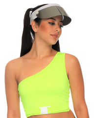Off The Wall Neon Buckle Rave Top (Available In 3 Colors)