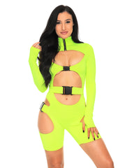 Intergalactic Domination Cutout Buckle Bodysuit
