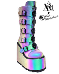 YRU Dune Reflective Alien Platform Shoes