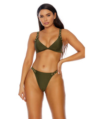 St. Tropez Rivets Bikini and High Cut 2pc Set