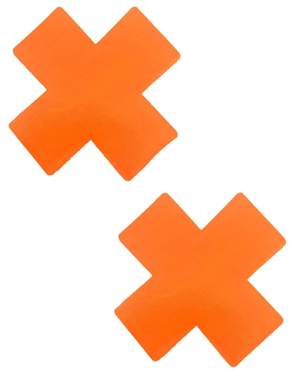 Orange Vinyl X Factor Blacklight Reactive Pasties