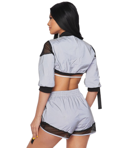 Flash Into Reflective Shorts 2pc Set