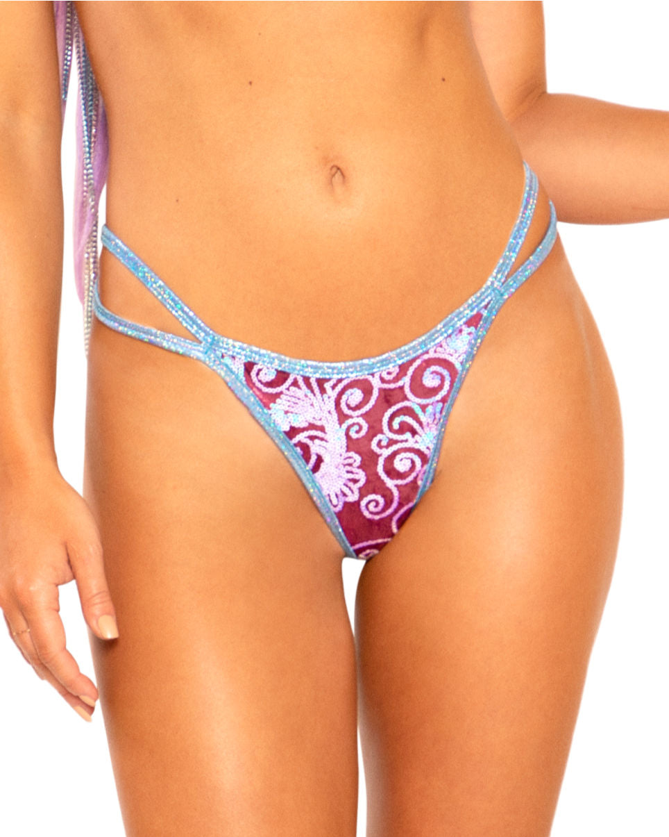 Velvet Sequin Double Strap Bottoms