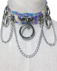 Interstellar Holographic PVC Choker with Chains