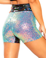 Velvet Sequin Biker Shorts