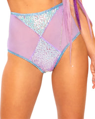 Velvet Prism Diamond Mesh High Waist Bottoms