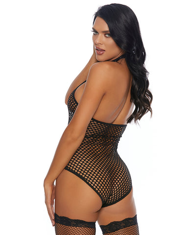 Wanna Net Halter Bodysuit