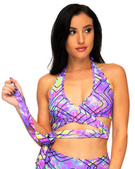 Runaway Rave Wrap Around Top