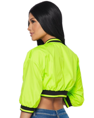 Electric Avenue Crop Bomber Jacket