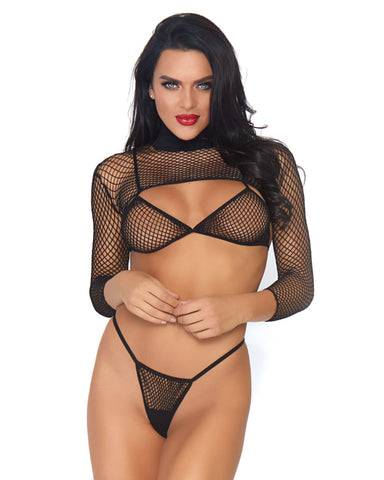Industrial Net 3pc Bikini Set