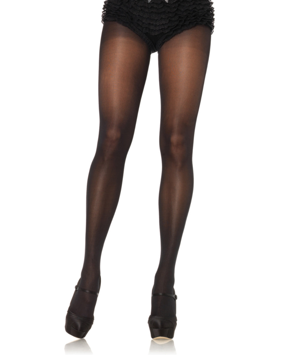 Black Plus Size Sheer To Waist Tights