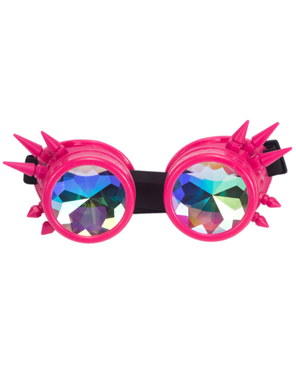 Spiky Kaleidoscope Steampunk Goggles (Available in 7 Colors)