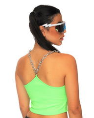Pull Your Chain Crop Top (Available In 3 Colors)