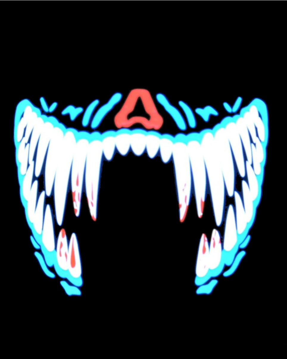 Sink Your Fangs Music Activated LED Airsoft Mask