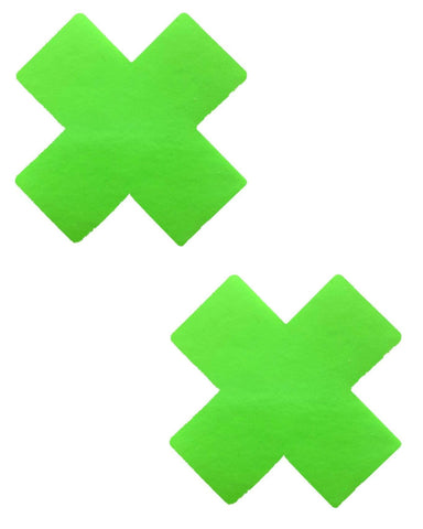 Apple Vinyl Green X Factor Blacklight Reactive Pasties